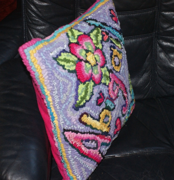 Side view Abigail's cushion